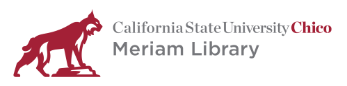 Meriam Library logo, click to return to homepage