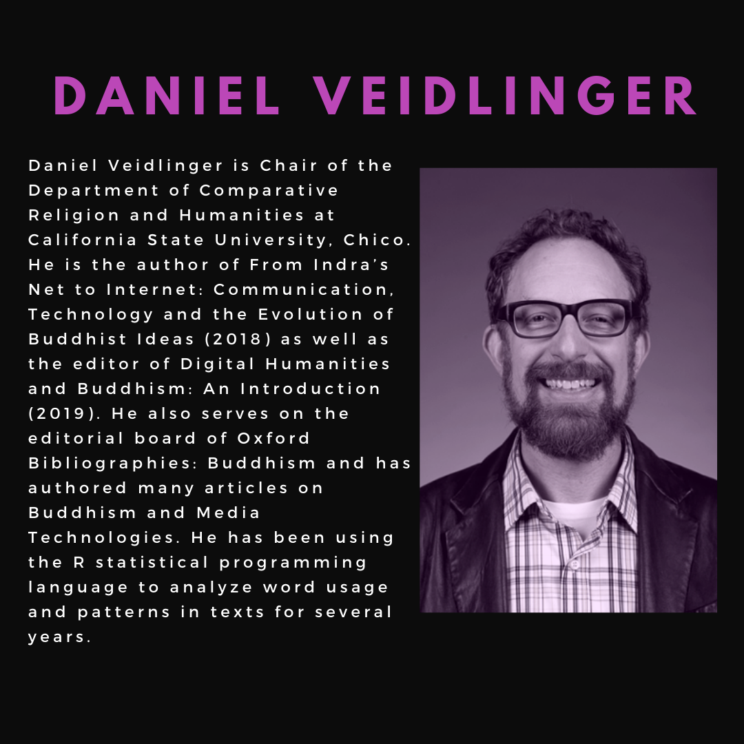 Daniel Veidlinger is Chair of the Department of Comparative Religion and Humanities at California State University, Chico. He is the author of From Indra's Net to Internet: Communication, Technology and the Evolution of Buddhist Ideas (2018) and others.