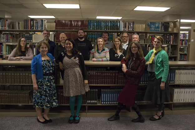 Photo of Meriam Library staff and faculty