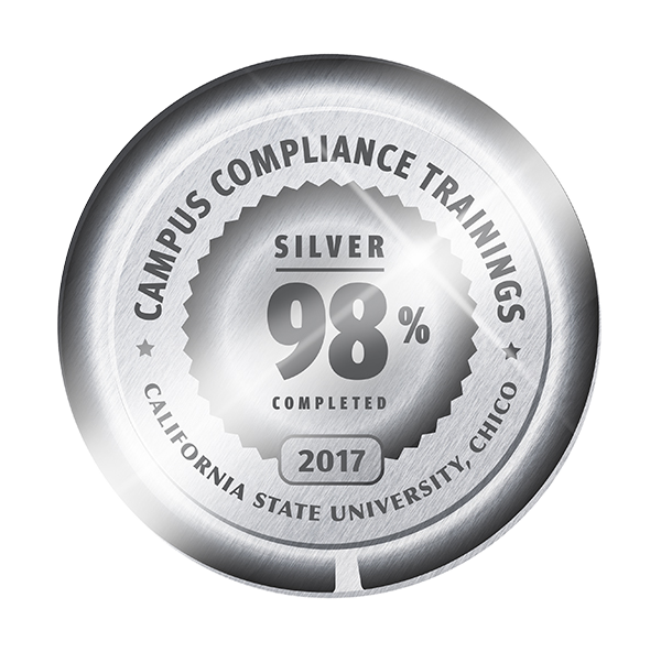 CSU, Chico Campus Compliance Trainings 98% completed