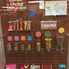 A library display of candy