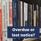 Lost or overdue notice image