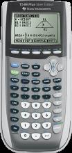 Photo of the TI 84 silver calculator
