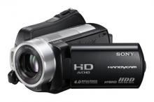 A Sony HDR-SR10 Camcorder