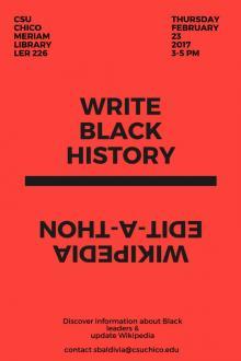 Wikipedia edit-a-thon Write Black History