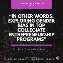 In Other Words: Exploring Gender Bias in Top Collegiate Entrepreneurship Programs