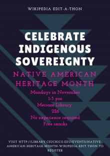 celebrate indigenous sovereignty flyer