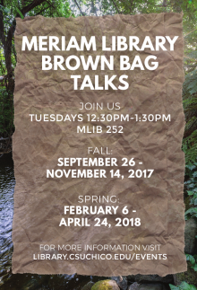 Brown bag talks 2017 flyer