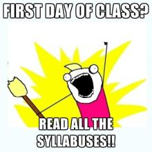Comic: First day of class? Read all the syllabuses!!