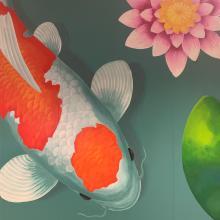 Photo of Koi Fish Mural