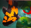 puzzle pieces of fish mural